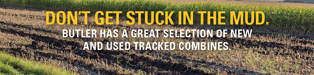Don't get stuck in the mud. Tracked Combines