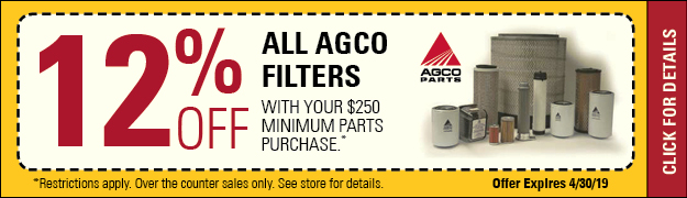 12% Off AGCO Filters