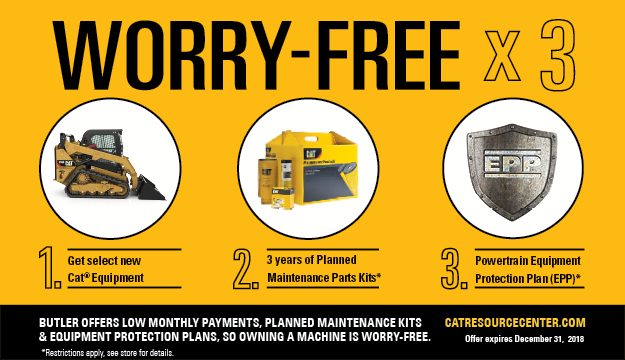 Cat Compact Equipment Worry Free