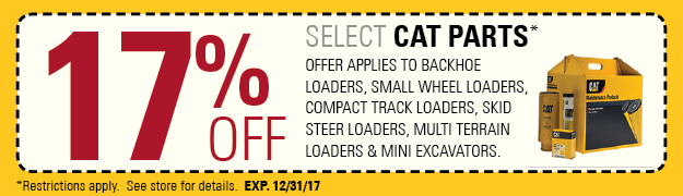 17% Off Select Cat Parts