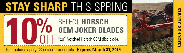Horsch Blades Sale