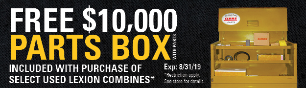 Free $10,000 Lexion Parts Box with Parts
