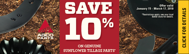 Save 10% on Select Tillage Products AGCO PARTS