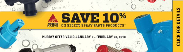 Save 10% on Select Spray Parts Products AGCO PARTS