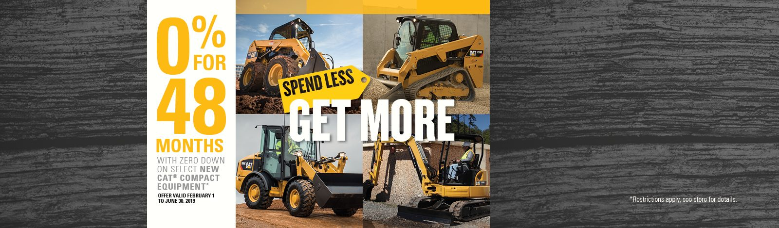 Cat Compact Equipment Spend Less Get More